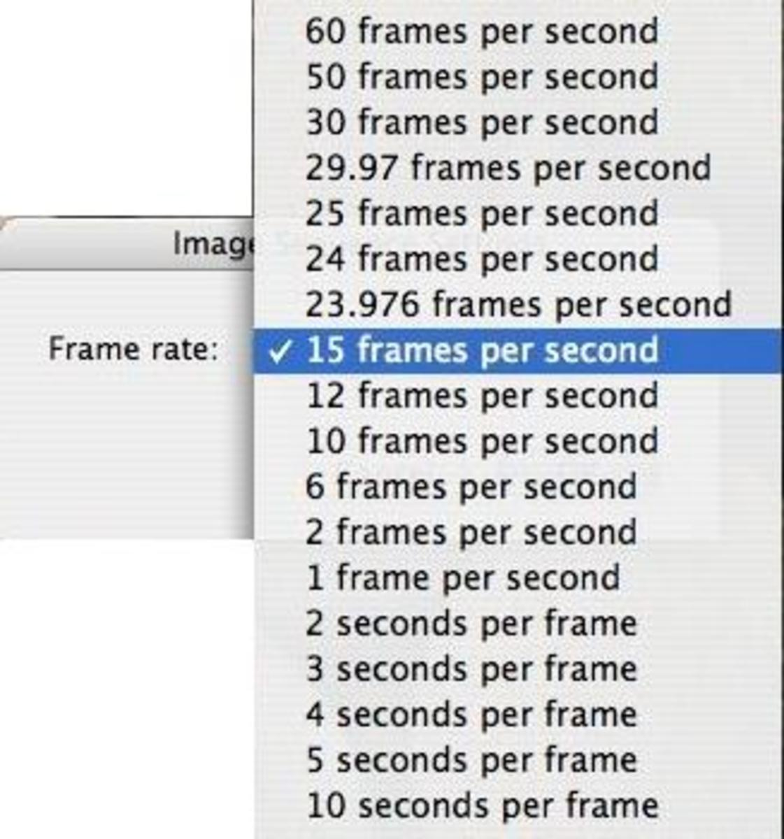 Step 3: Choose a frame rate.