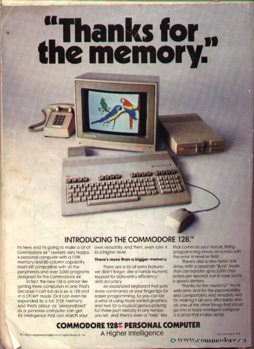 This brochure focuses on the C128 and it's large memory
