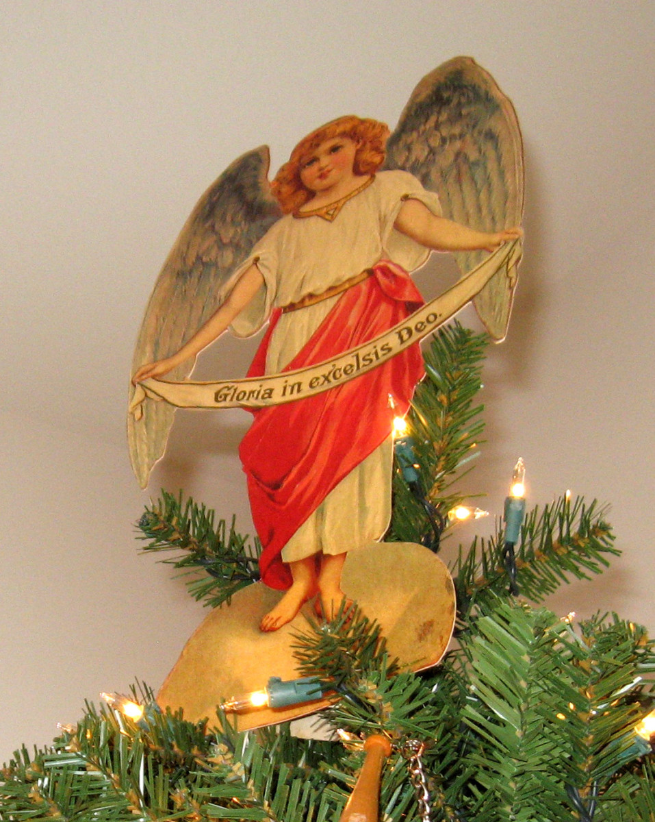 Vintage Angel That Tops My Christmas Tree