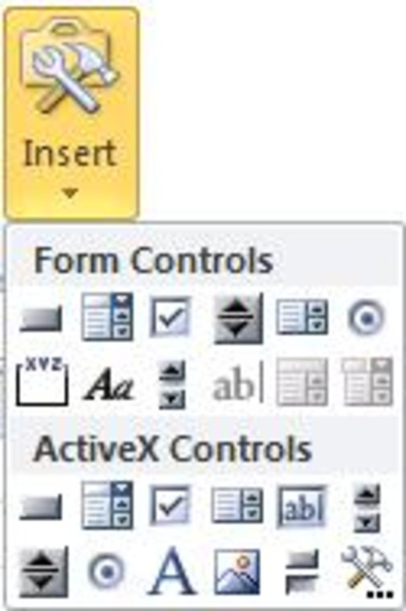 Inserting an option button in Excel