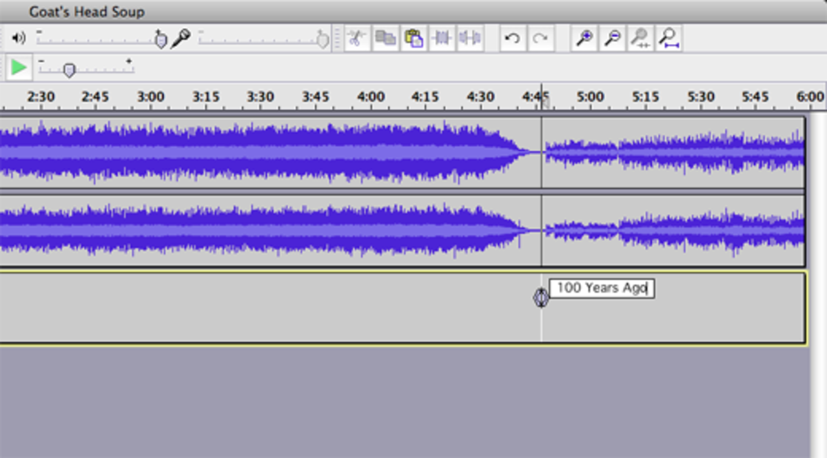 Type the name of the song in the box that appears below the audio tracks.