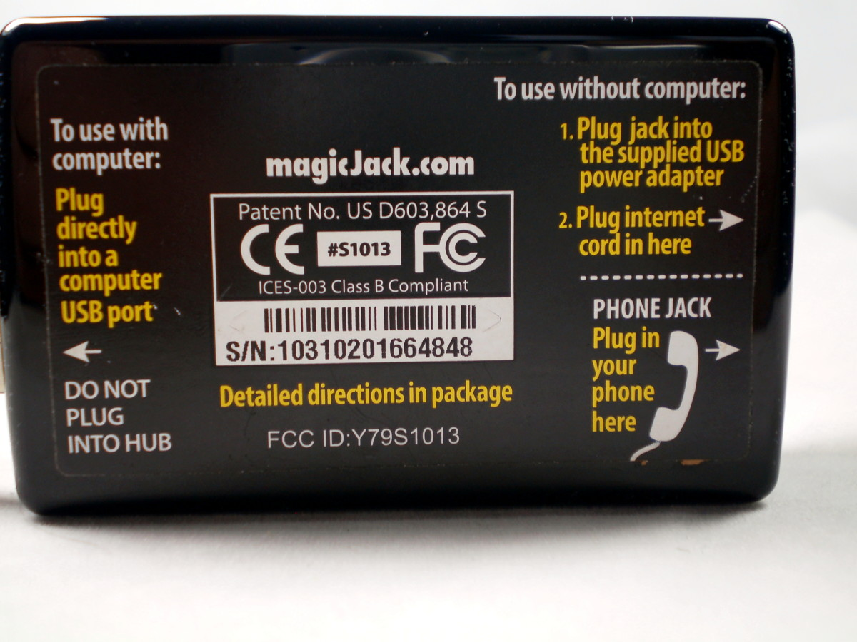 Instructions on the backside of the device.