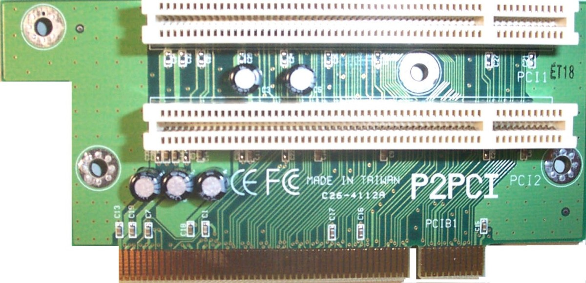 The riser card, where adapter cards are connected
