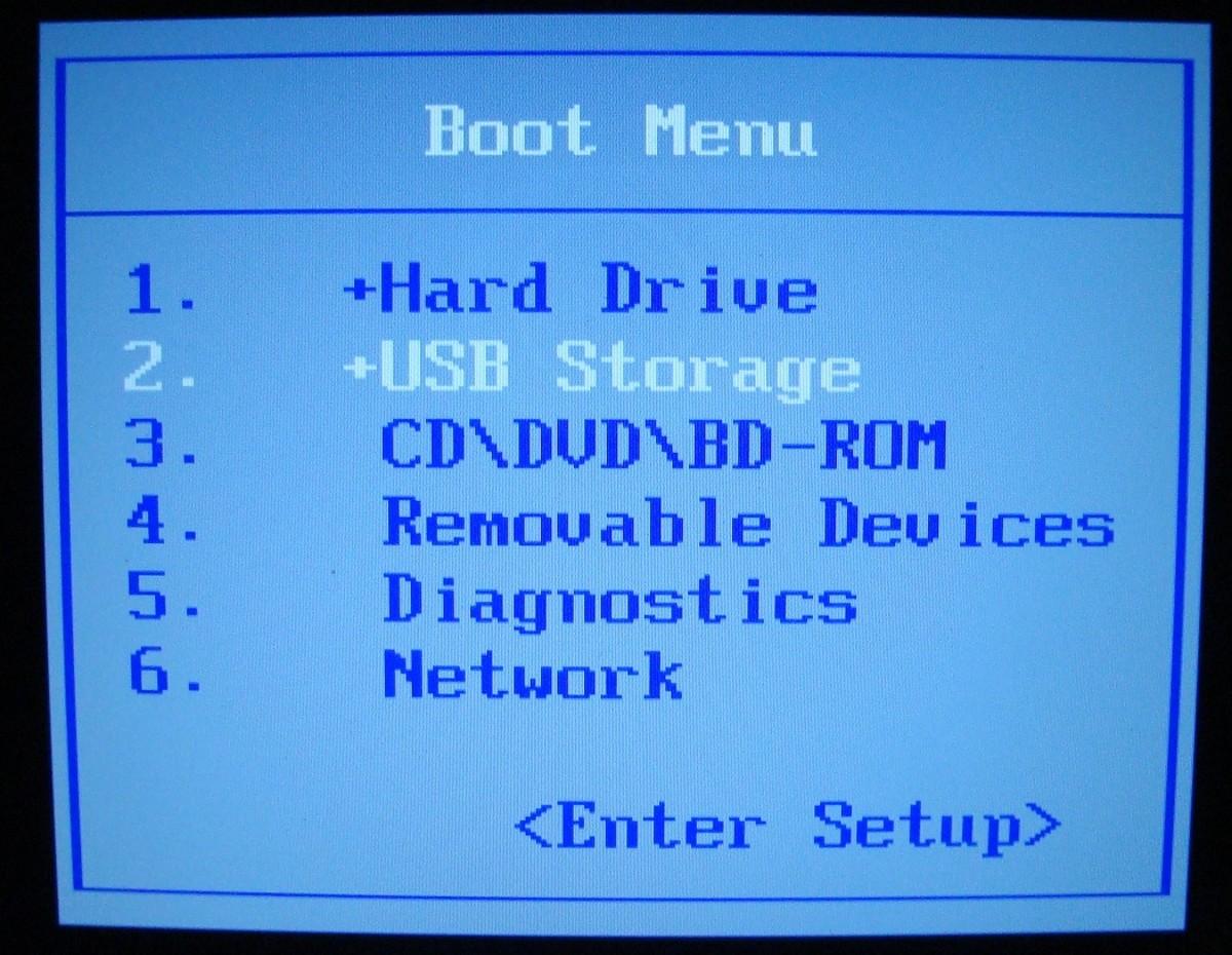 Dell Boot Selection Menu