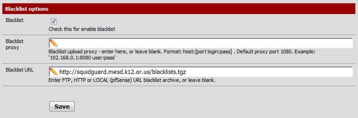 Adding a Blacklist