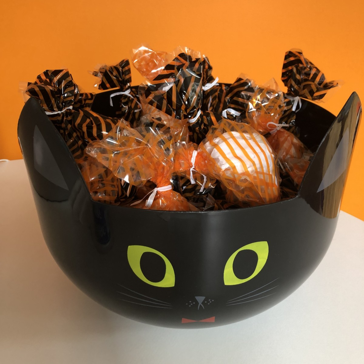 After several years of offering trick-or-treaters a choice, they now receive a pre-filled treat bag with three items.