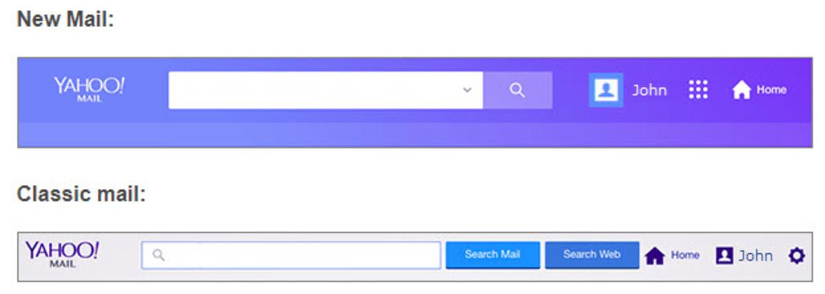 Classic Yahoo Mail vs. New Yahoo Mail