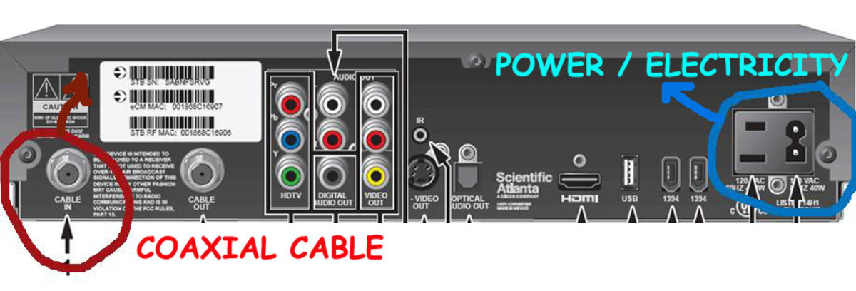 """Cable In"" (circled at left) next to ""Cable Out."""