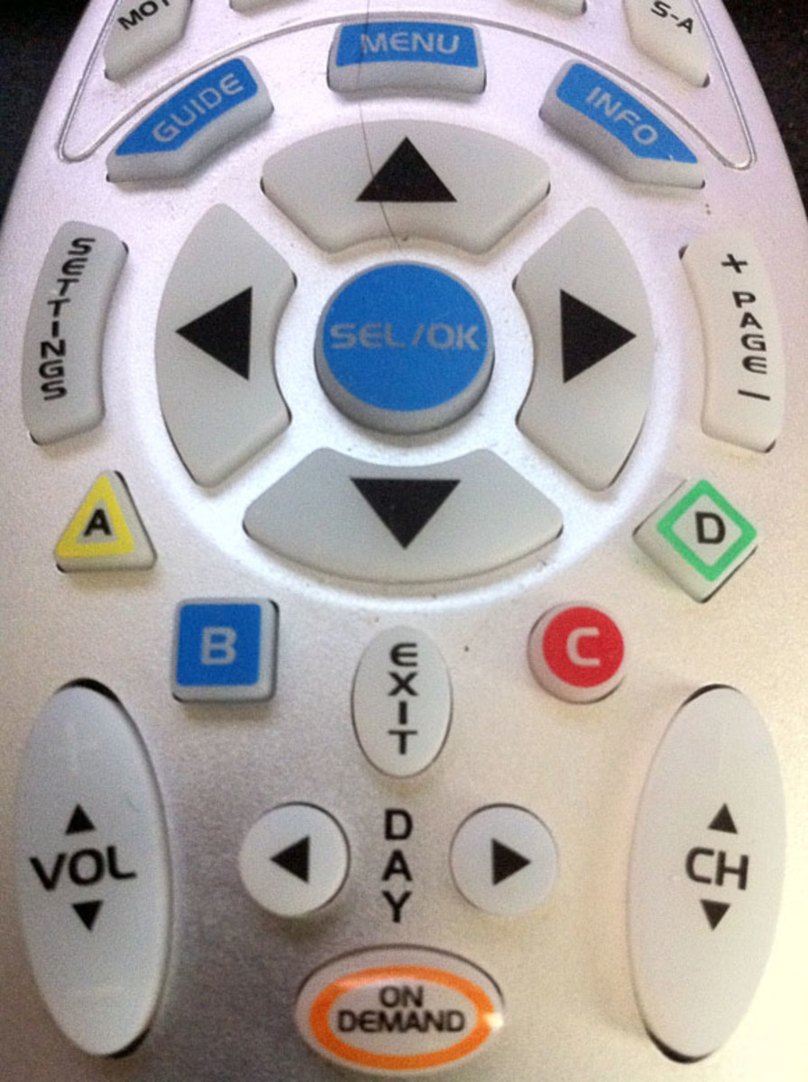 buttons on a remote