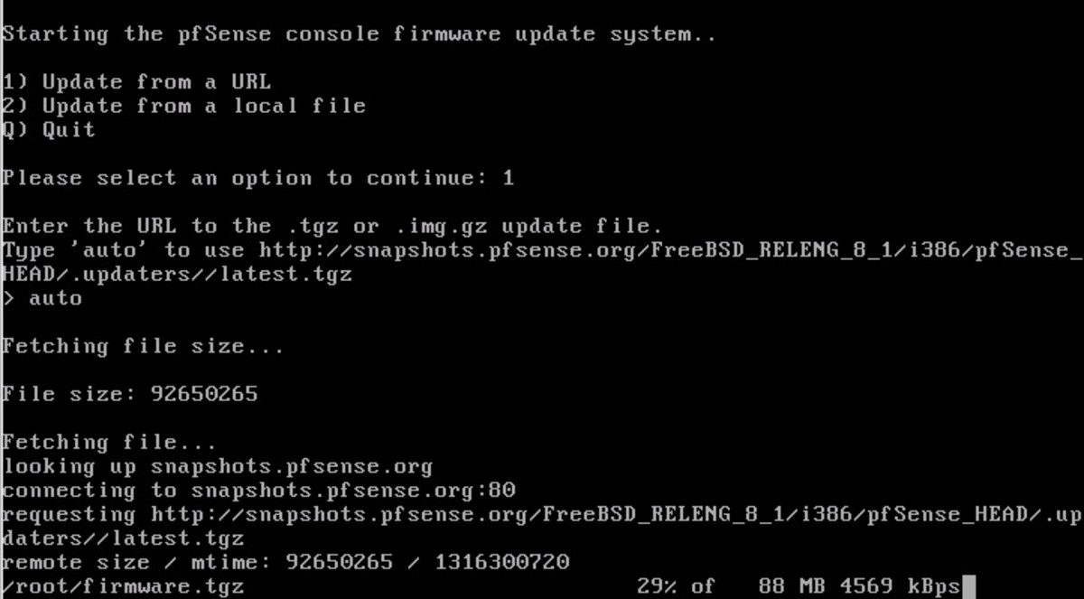 Once the download completes the updater will automatically verify the MD5 hash.