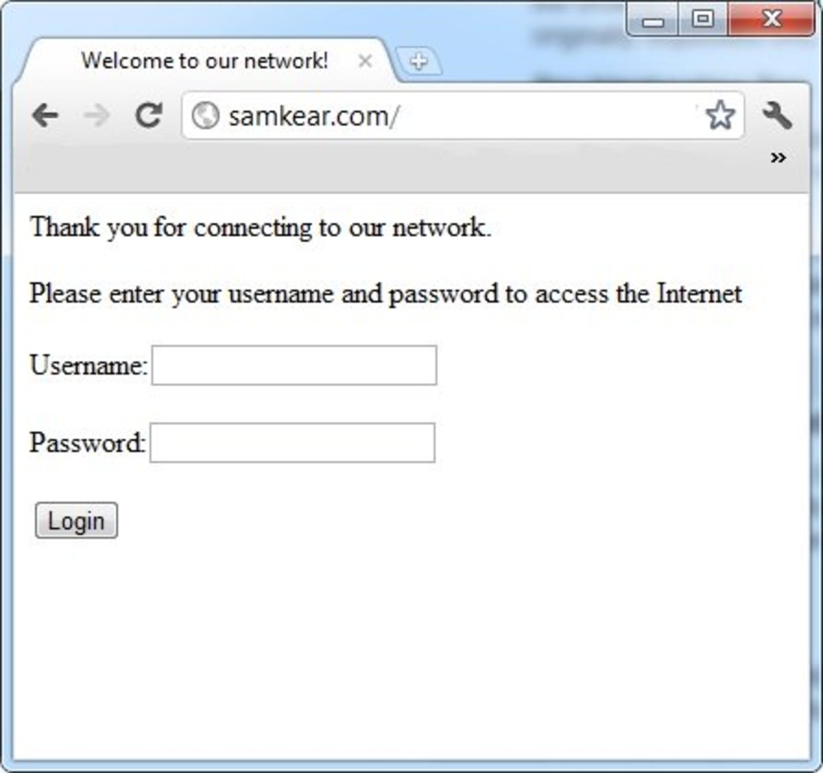 When authentication is enabled users must enter a username and password to access the network.