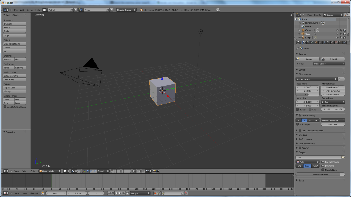 Blender's workspace. The viewport is in the middle.