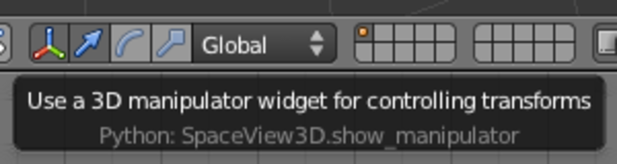 The 3D Manipulator toolbar widget with Translation mode active.