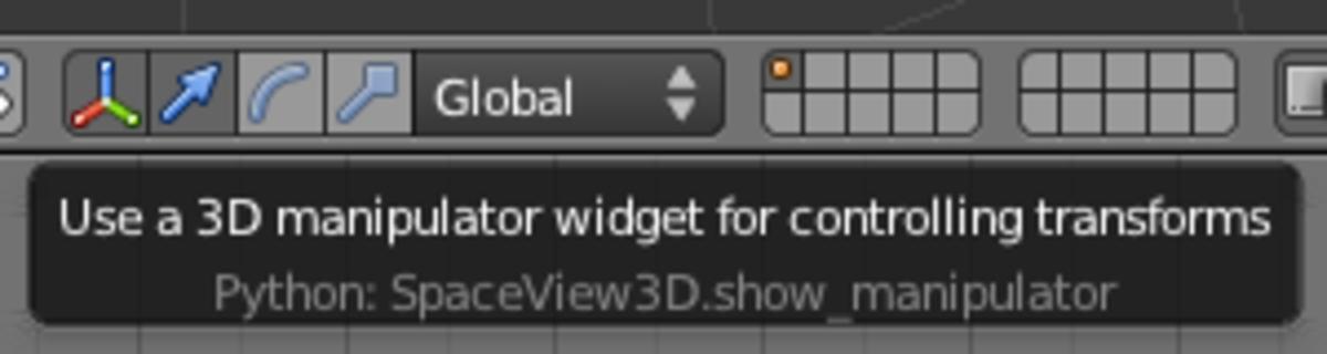 The 3D Manipulator toolbar widget with Translation mode active.