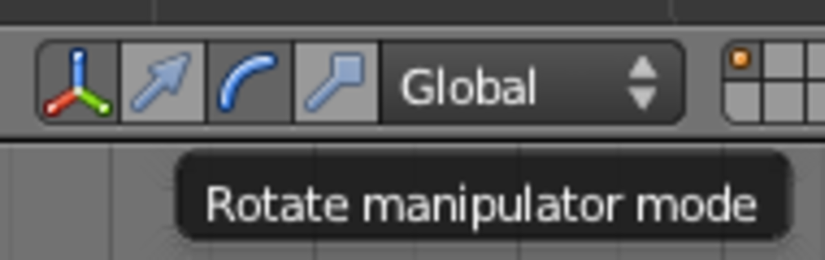 Activating Rotate mode in the 3D Manipulator toolbar.