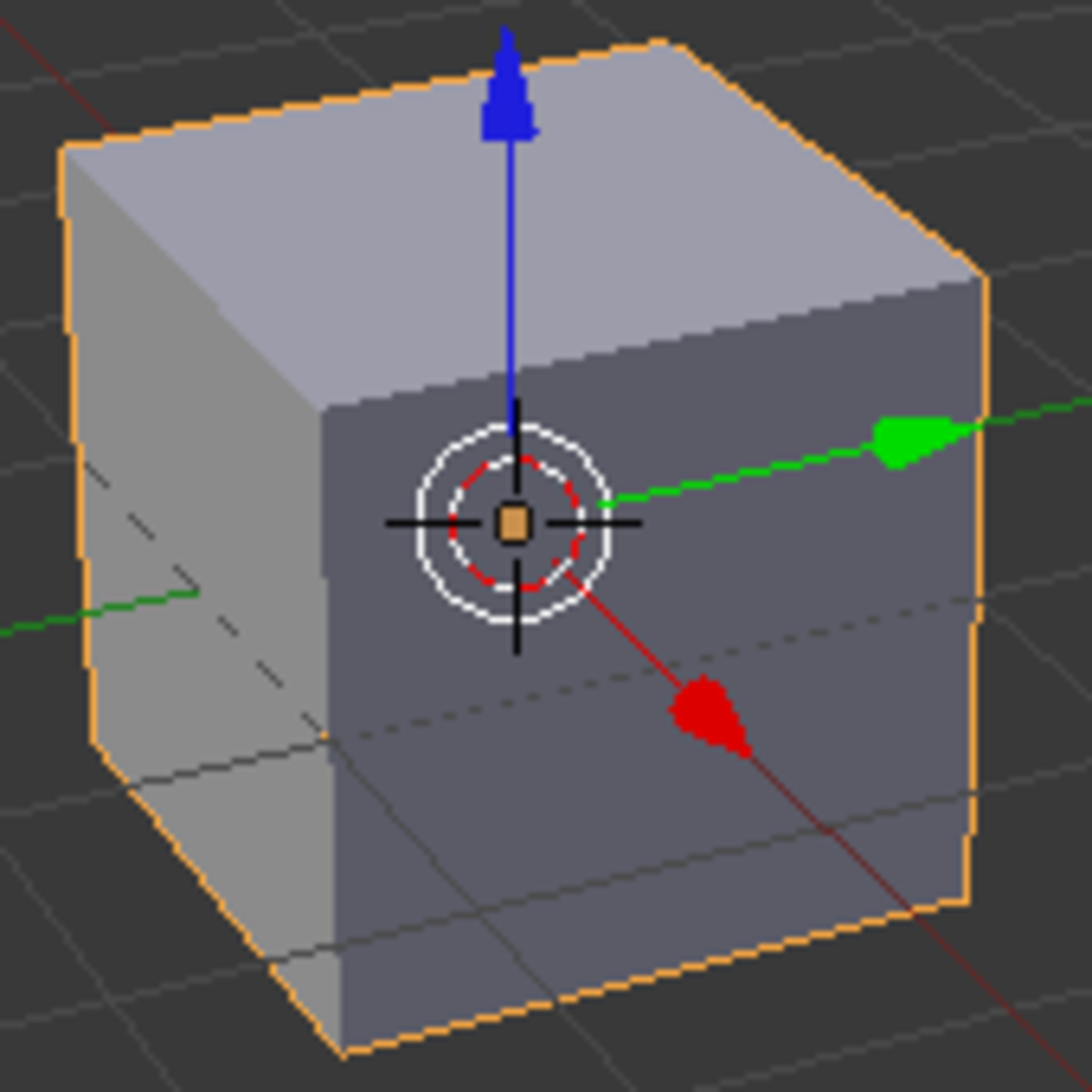 The 3D Manipulator is visible inside the cube.