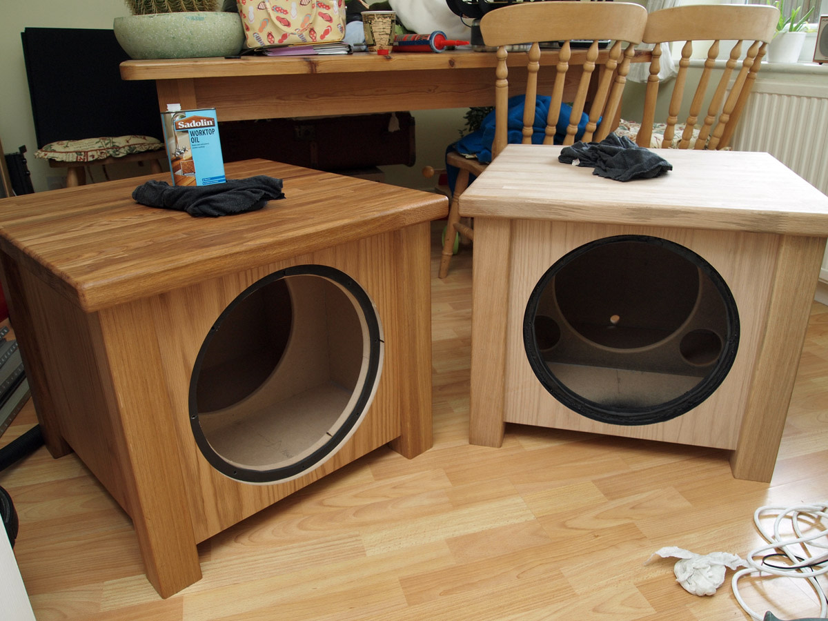 Fantastic looking pair of sealed subwoofers (work in progress).