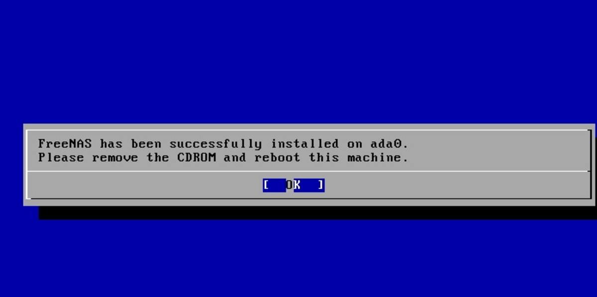 After the installation is complete you can remove the CD and reboot the system.