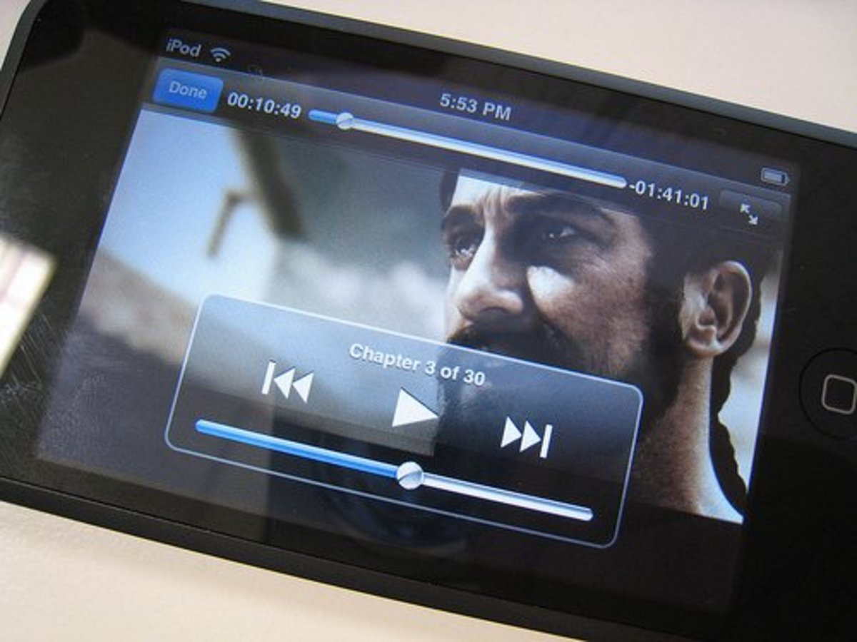 Watching movies on the iPod Touch is easy and enjoyable.