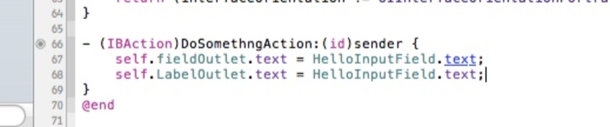 Add code to IBAction
