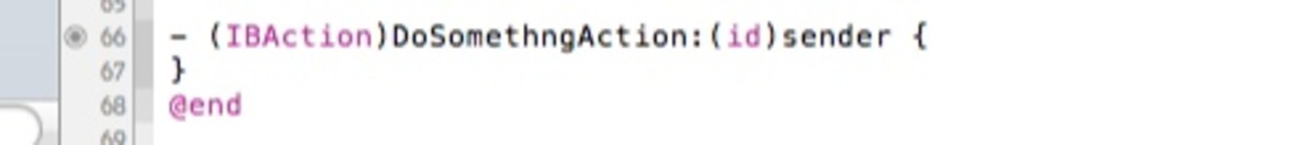 IBAction implementation