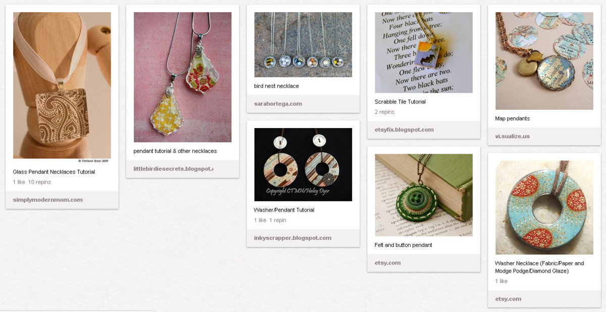 I launched a new jewelry line for 2012, which includes handmade charms and pendants.  I created a board to collect ideas for charms and pendants that I could make for it.