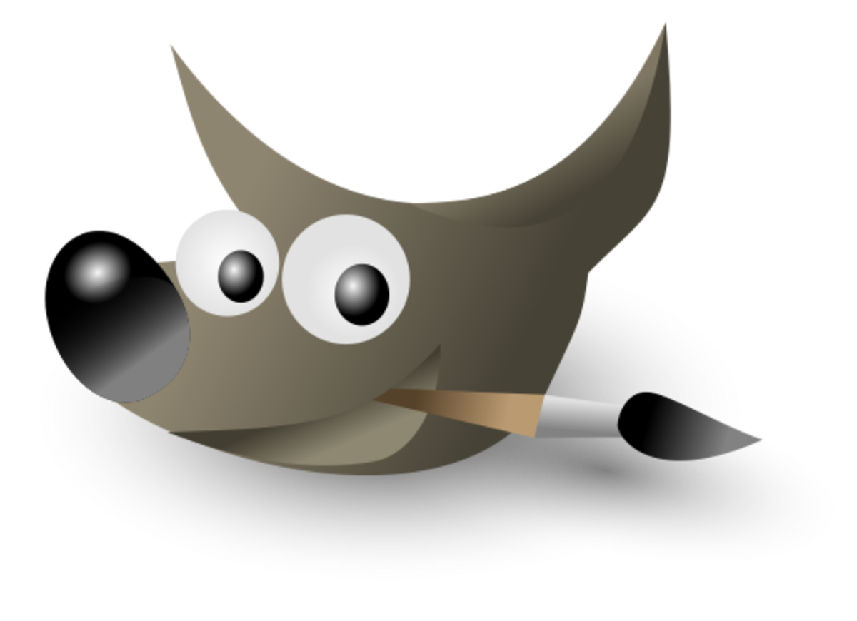 Use Gimp software to fix your photos—for free! This is the Gimp logo.