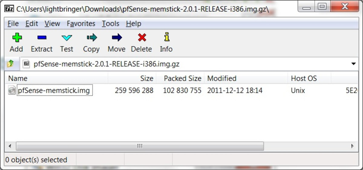 7zip can be used to extract the IMG file from the compressed archive.