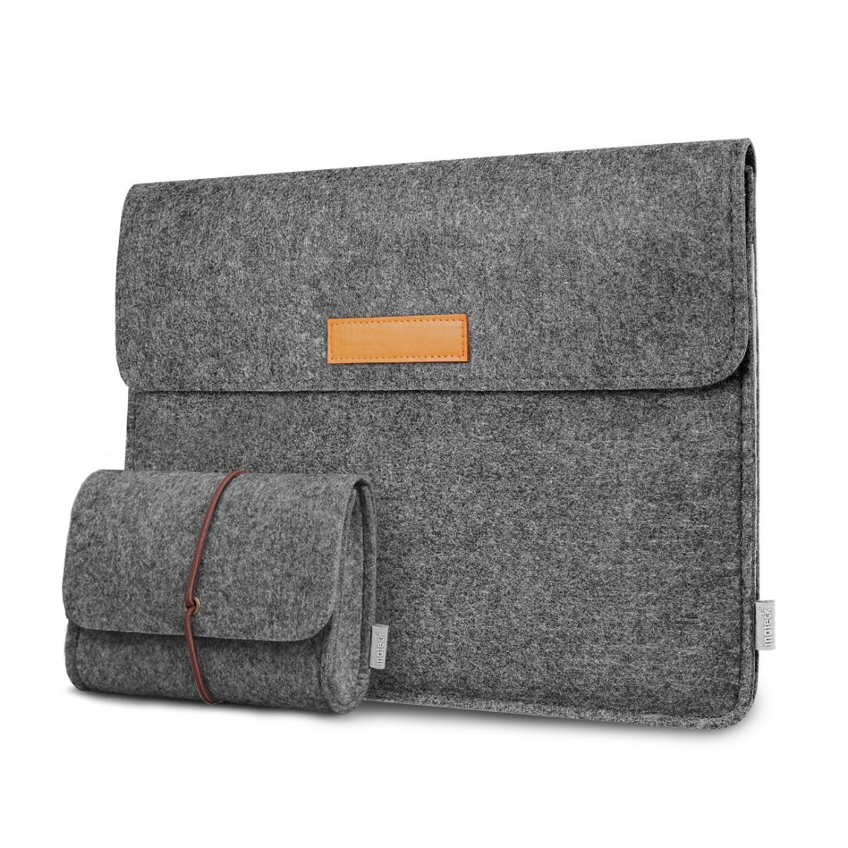 One of my favorite things about the Inateck MacBook sleeve is its versatility: I can use it as a carrying case, or as a sleeve, slipping my Mac into another bag instead. It has a great look and feel for me, I like the additional felt mouse bag too.