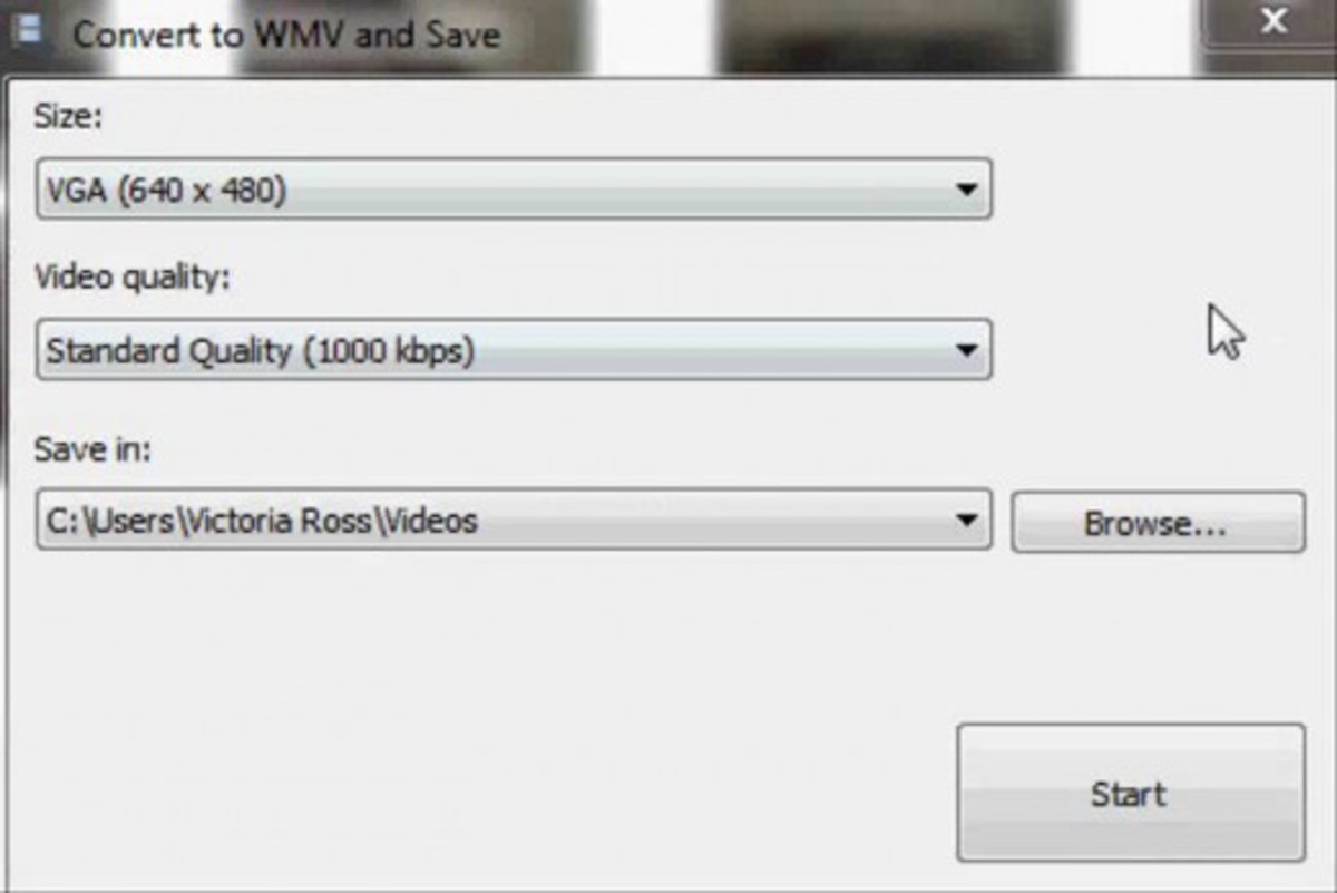 Change the output settings to accommodate your file.