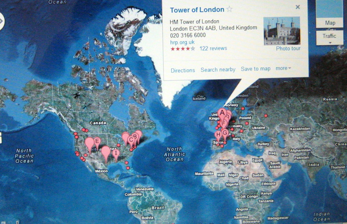 The Tower of London  on Google Maps