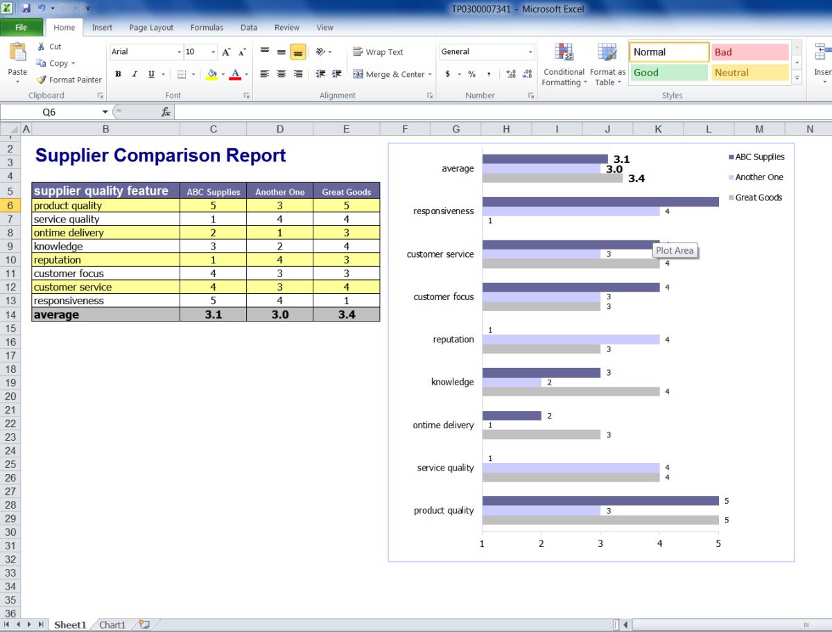 Microsoft Excel Report