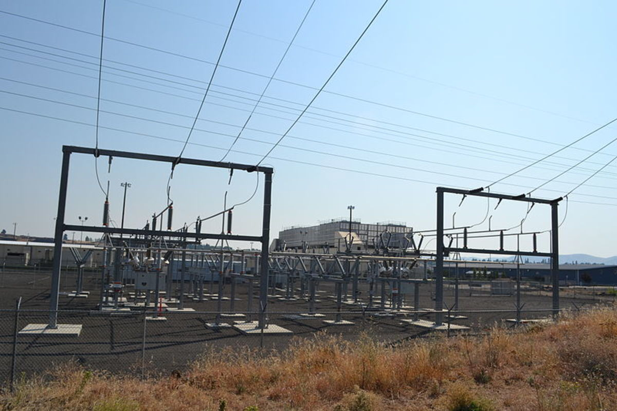 The Google Data Center in The Dalles, OR
