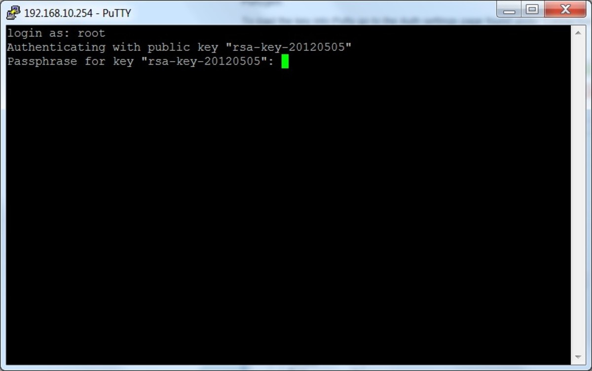 Example of a key based login.