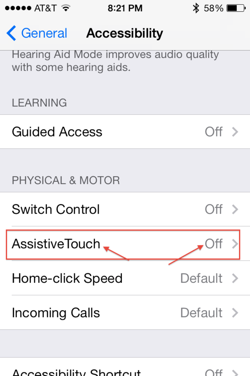 "From the Accessibility Menu, fine the ""Physical and Motor"" section near the bottom of the page.  Access ""Assistive Touch"" to turn this option on."