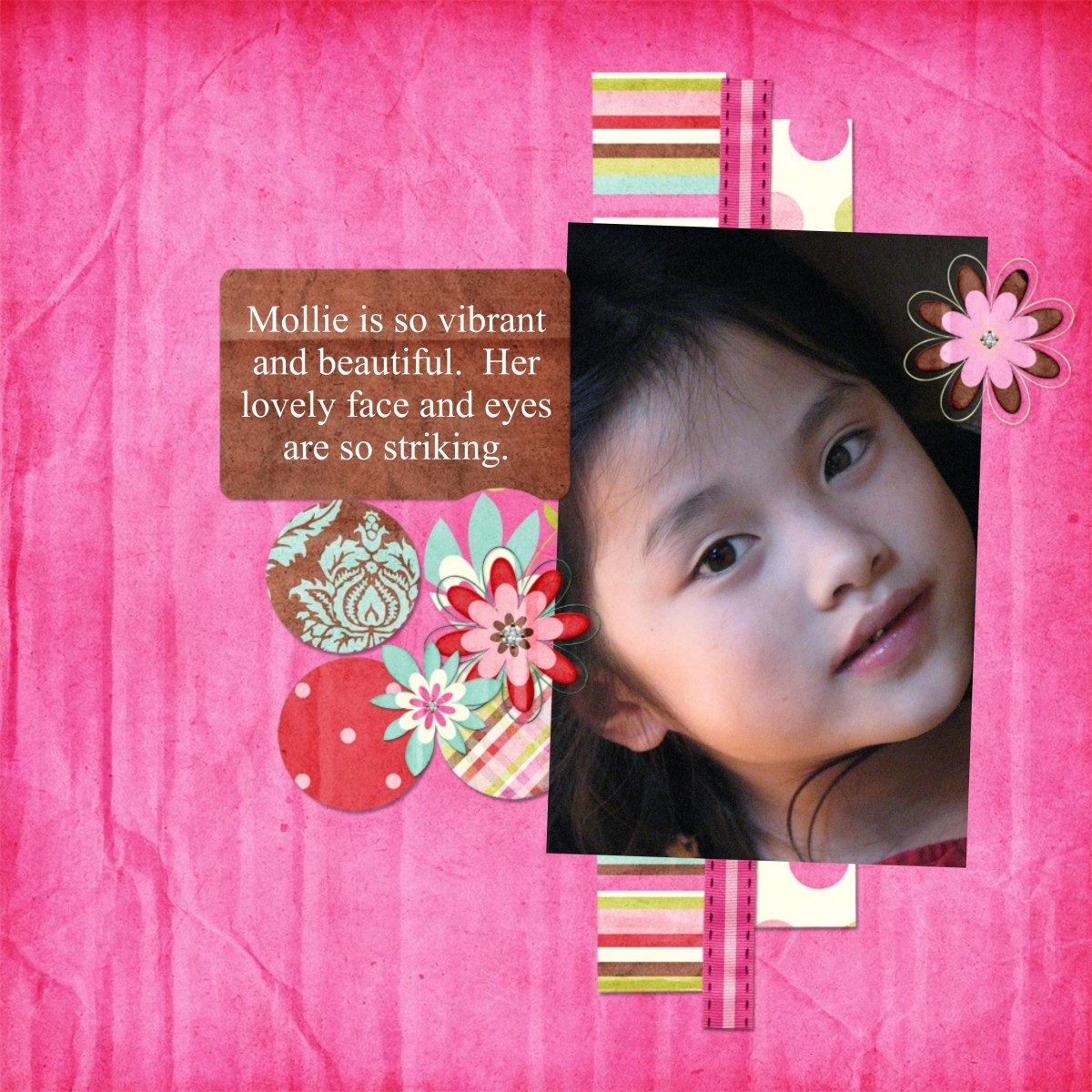 Smilebox:  as you can see, there are a variety of designs and colors.  On many designs you have a choice of number of elements and paper background.