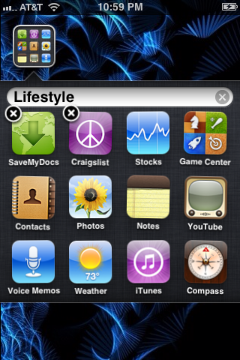 Move the apps into the same folder.