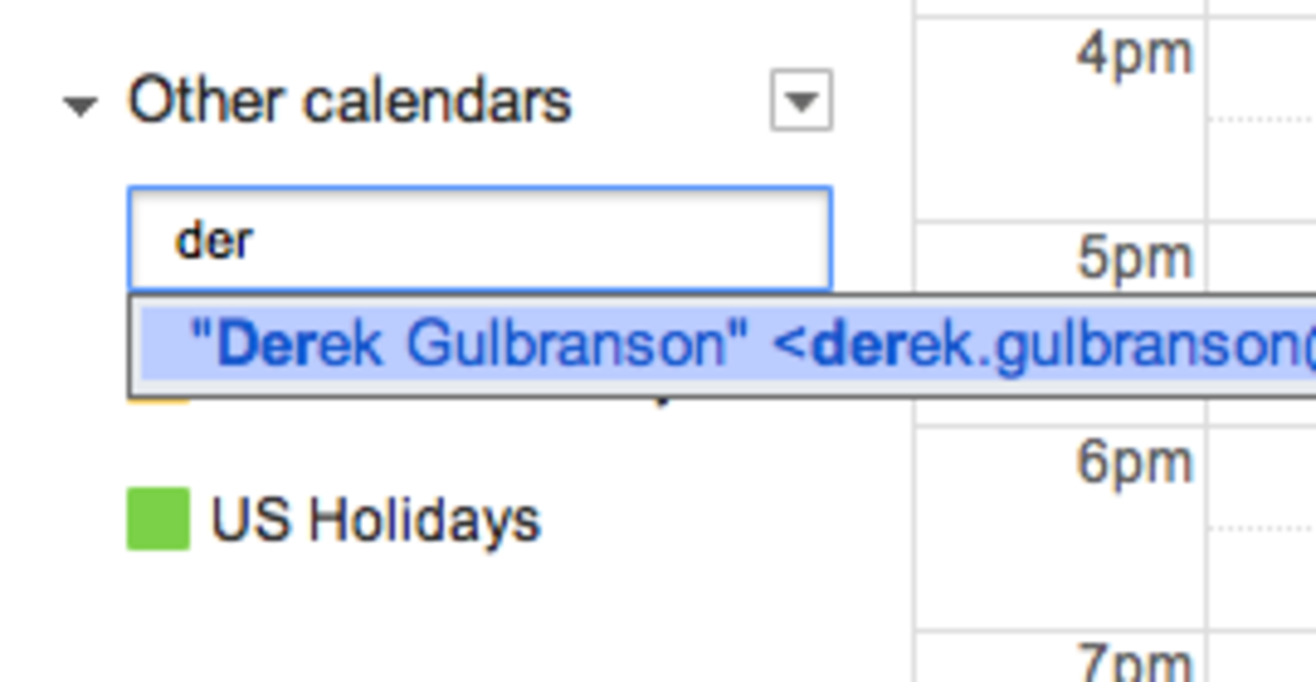 Importing your friend or coworker's calendar with Google Apps is really easy