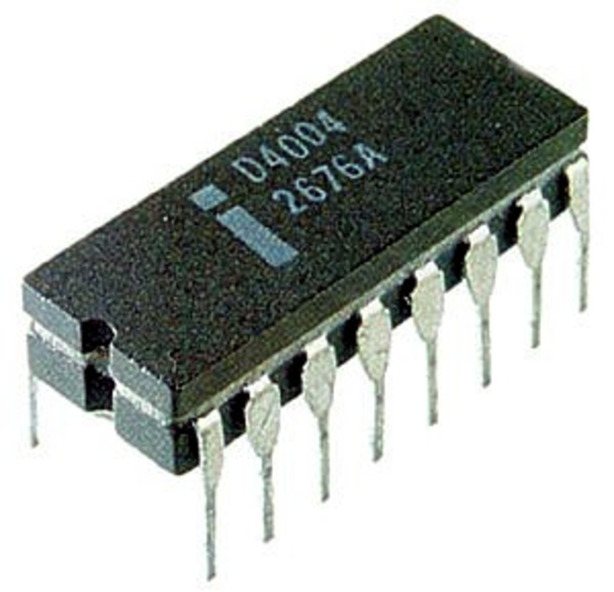 The original Intel 4004 microprocessor.