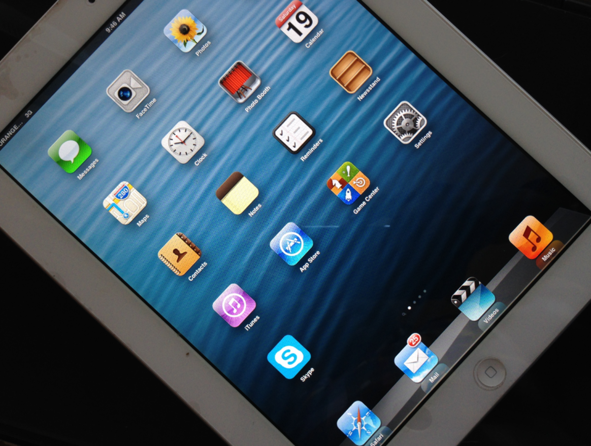 An iPad mini tablet.