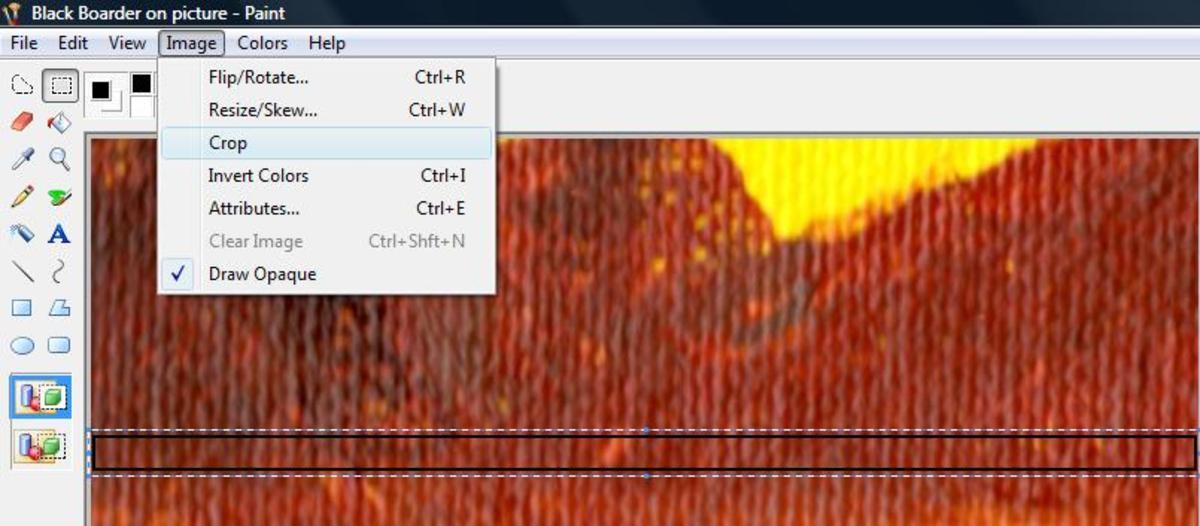 Screenshot: Image and then Crop
