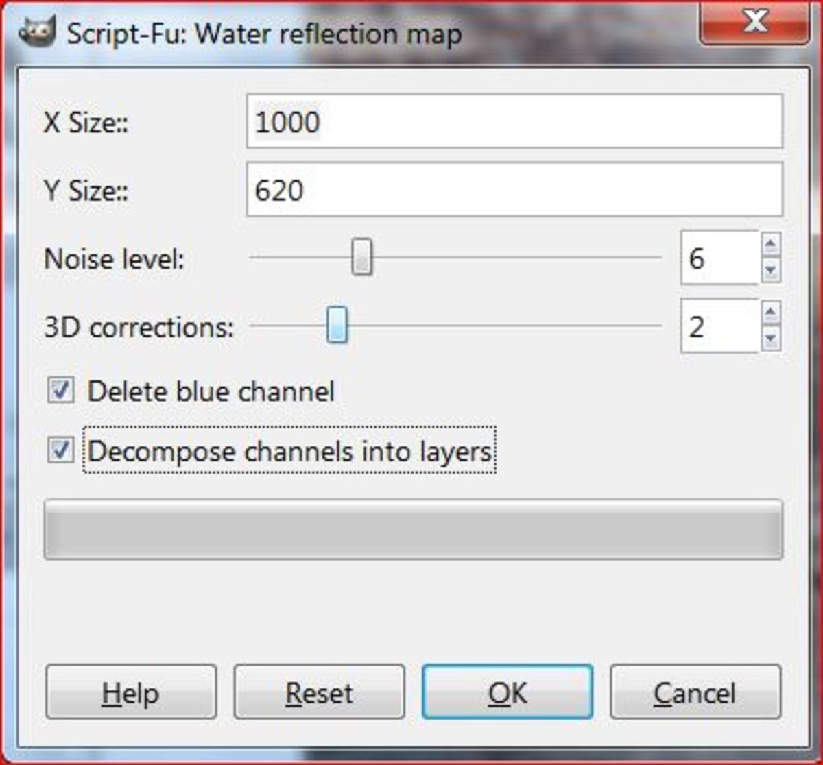 Fig.5 Creating a realistic water reflection in GIMP 2.8