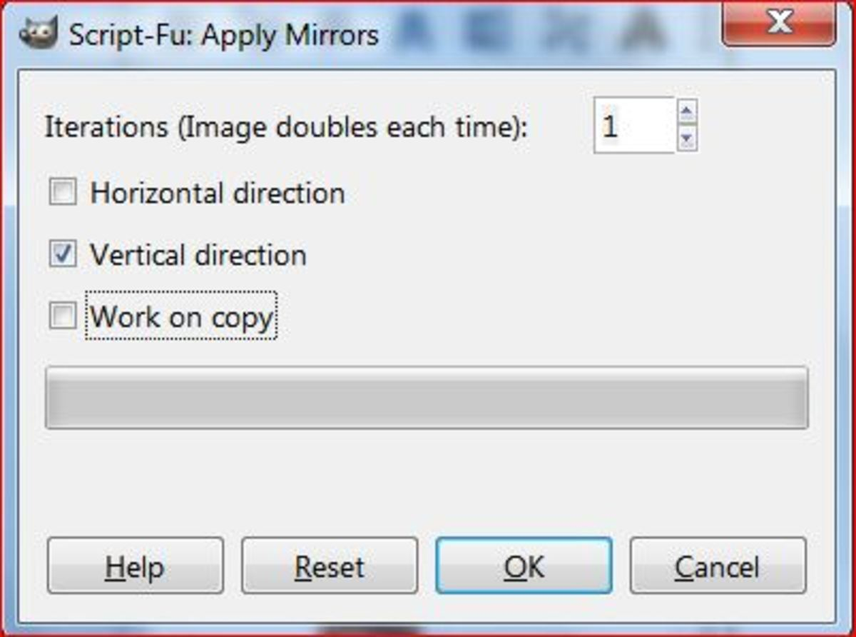 Fig.2 Creating a realistic water reflection in GIMP 2.8