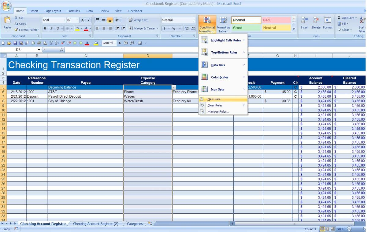 Conditional Formatting Drop-down