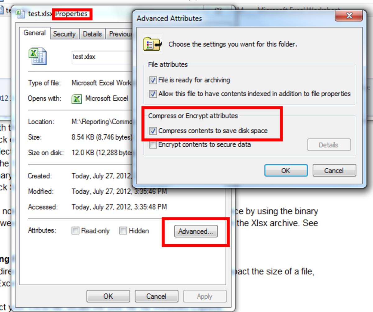 Figure 4: Configuring File Compress in Windows
