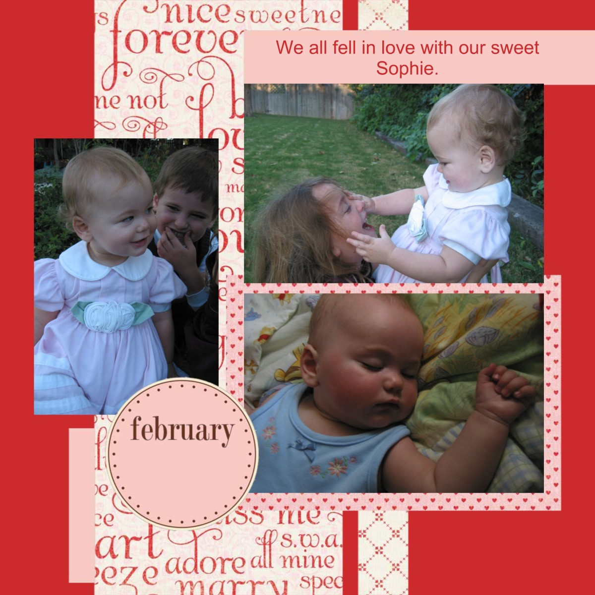 February.  Using Products from Smilebox.