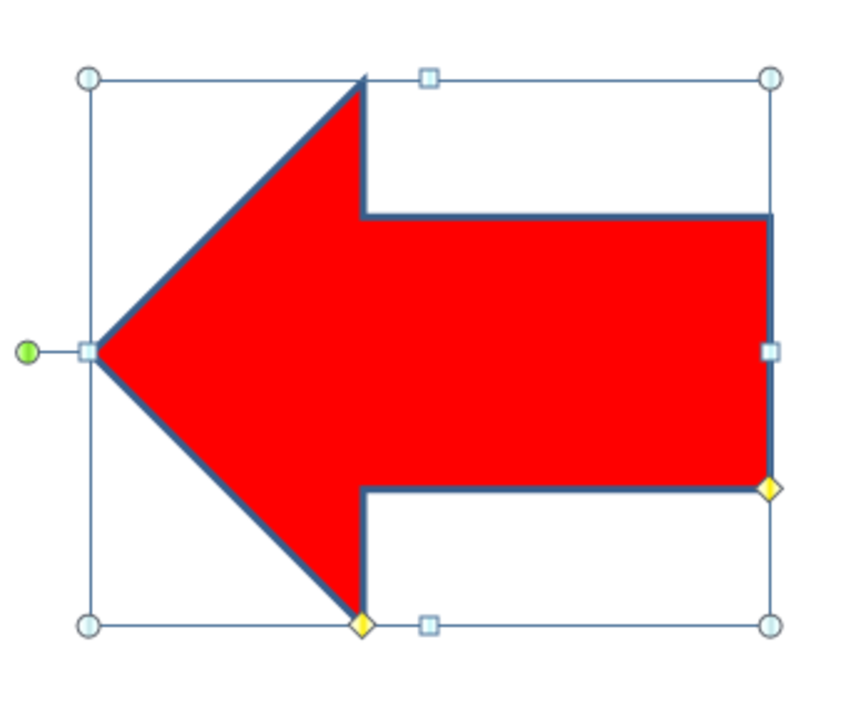How to move a block arrow shape into position in Excel 2007.