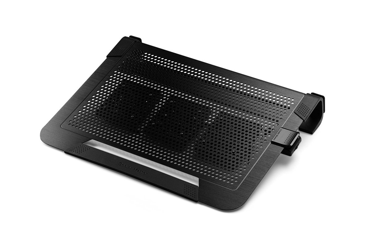 The Cooler Master NotePal U3 PLUS provides a chill pad for your notebook, minimizing the chances of damage to the machine due to overheating.  With a meshed design, it uses a 80 mm removable fan that can spin above 1500 RPM (950-1800 RPM) to dissipat
