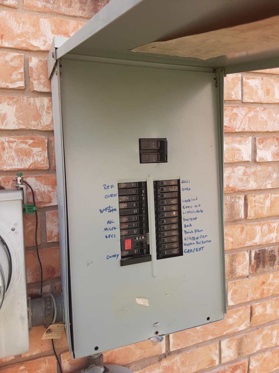 A typical breaker box looks something like this.