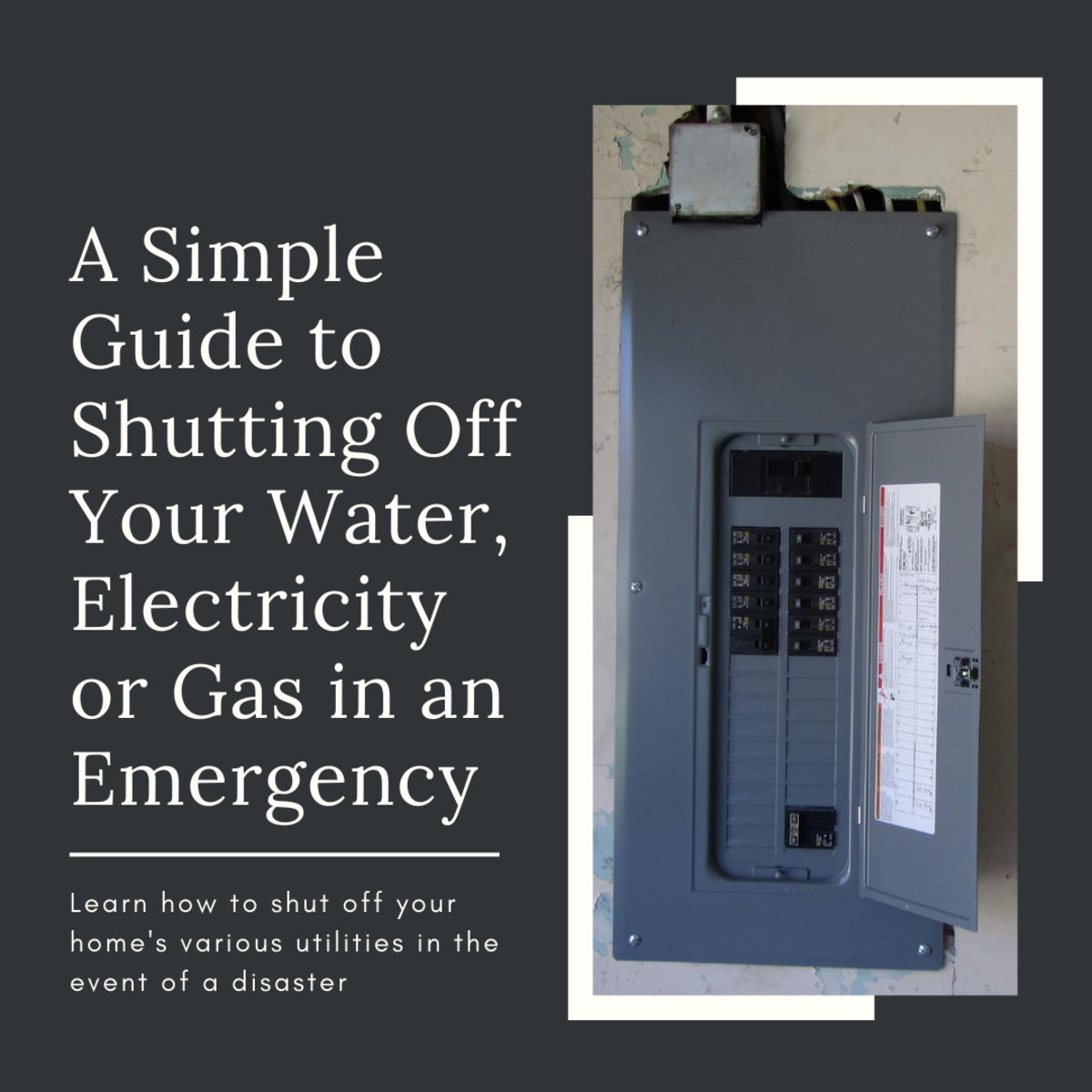 This guide will break down the process of shutting down your water, electricity, gas or other utilities in the event of a disaster or other emergency.